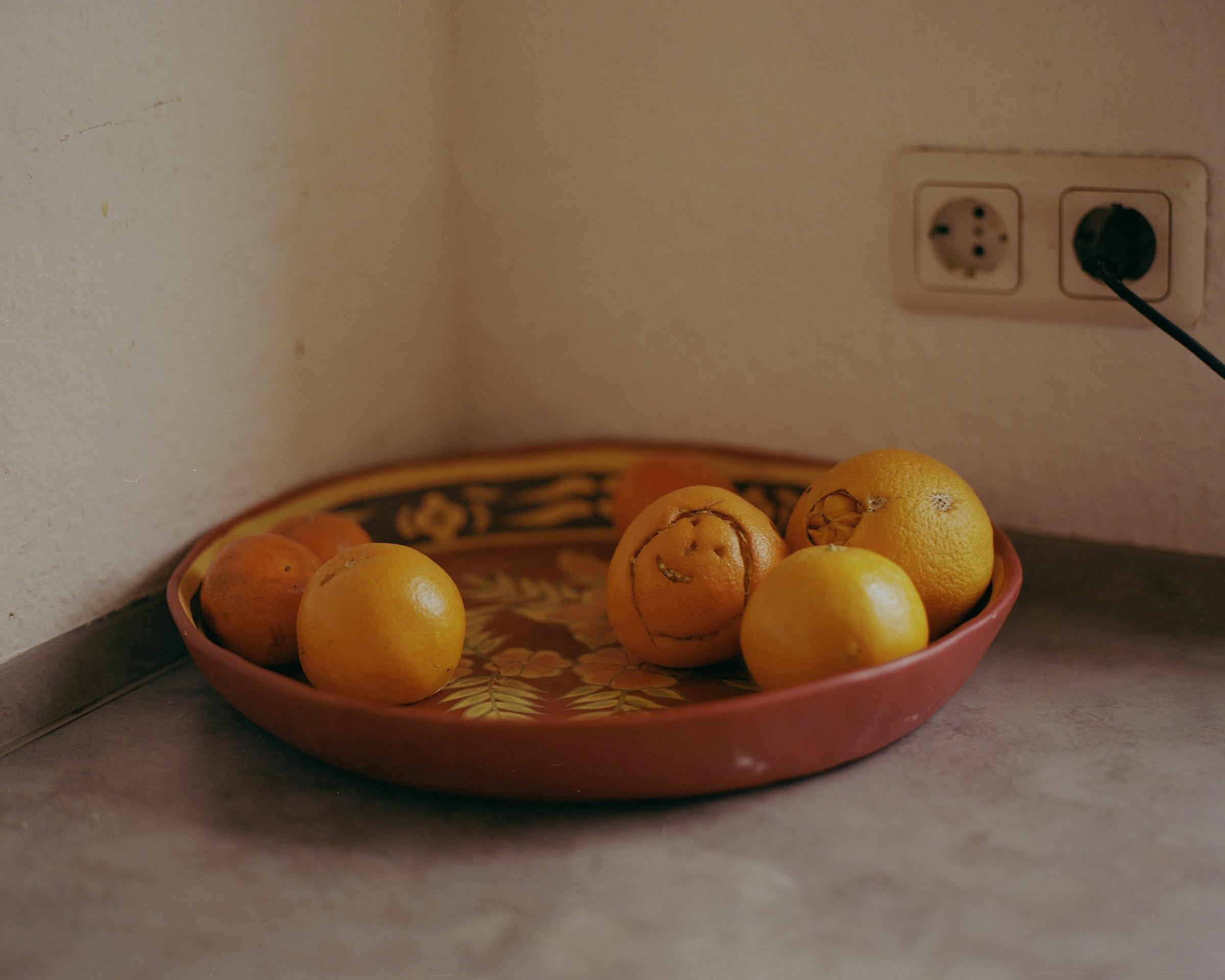 Oranges in Hanan's kitchen.