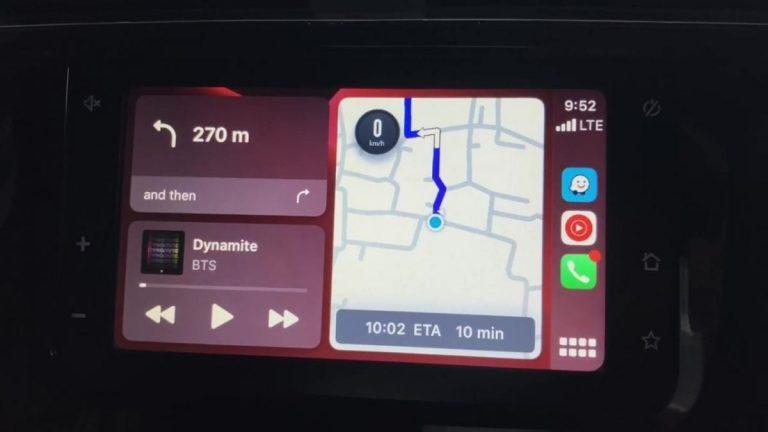 Waze now supports Apple CarPlay's dashboard mode