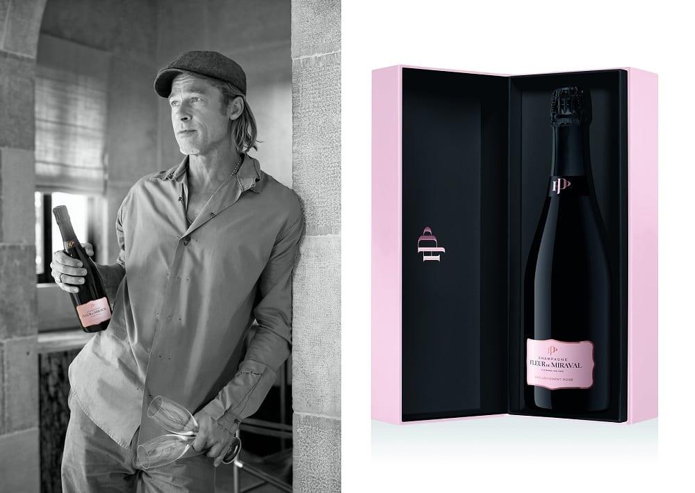 Brad Pitt has unveiled Fleur de Miraval, his first ever rosé champagne. — Picture courtesy of Fleur de Miraval