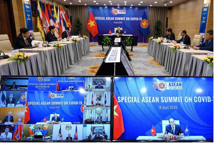 Asean leaders meet online to tackle coronavirus