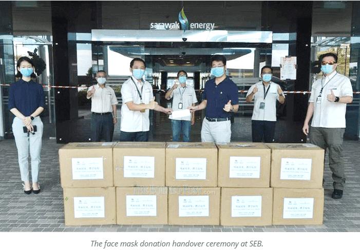 Sinohydro donates 20,000 face masks to SEB