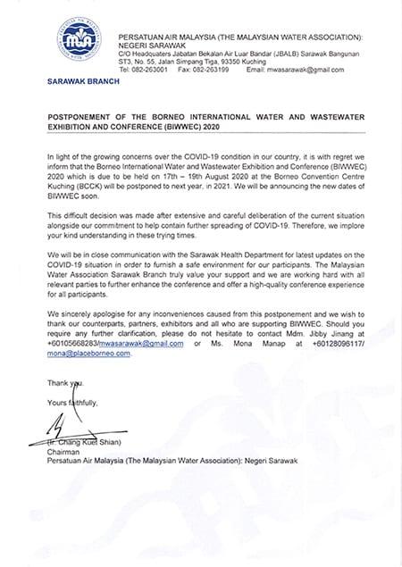 Biwwec postponed to 2021
