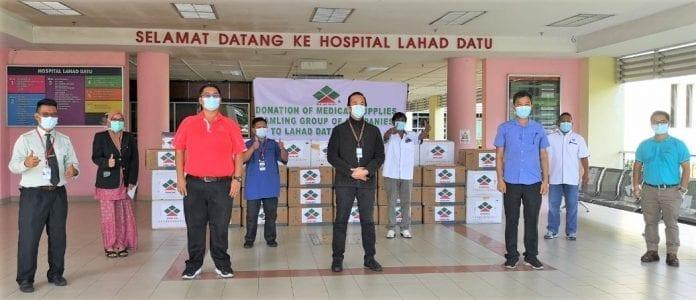 Samling donates health equipment to Lahad Datu Hospital