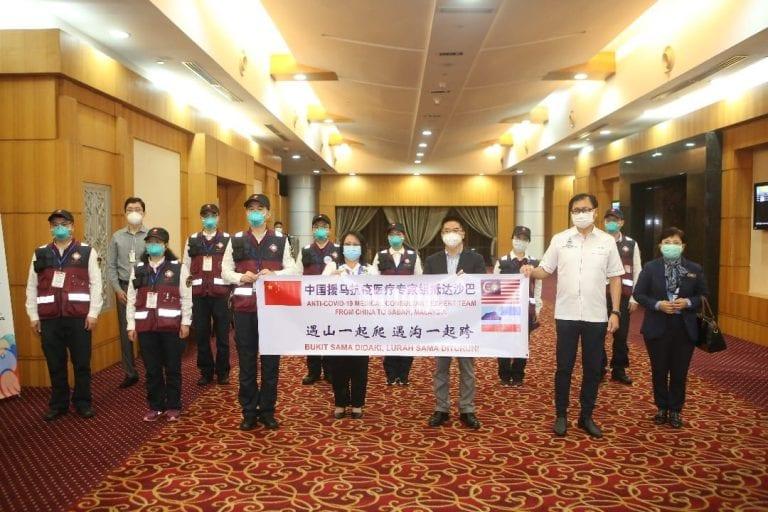China medical team arrive in Sabah