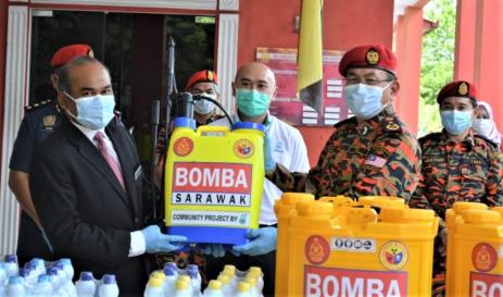 Petronas donates sanitisation equipment